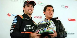 checo-recibe-casco-f1-mexico