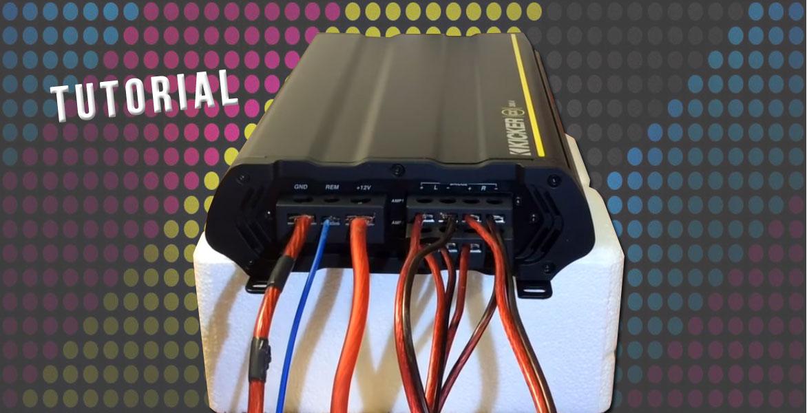 SUBWOOFER para coche conector CAR HIFI channels cable RCA 2 altavoces y fusible SET completo KIT de cableado para CABLES para amplificador