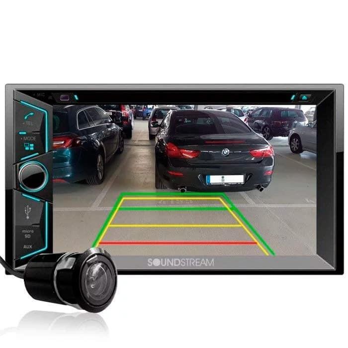 Car Audio - Paquete Soundstream vr-624b + cámara