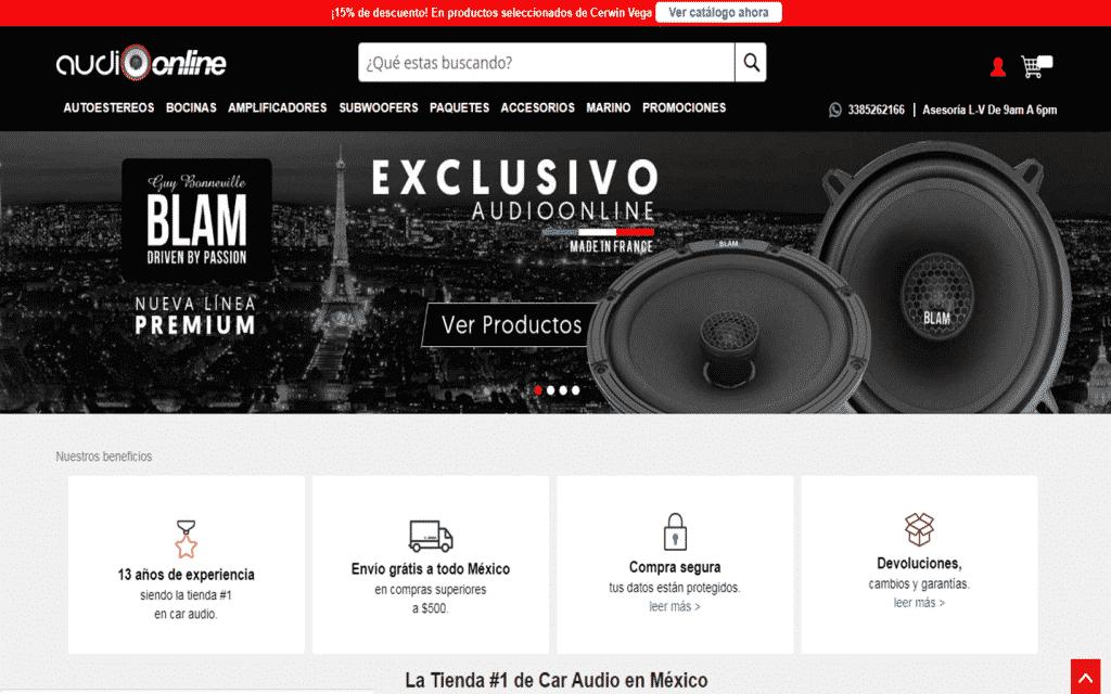 Plataforma web de audioonline a 2019