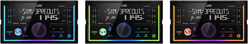 iluminación del JVC KW–SX83BTS