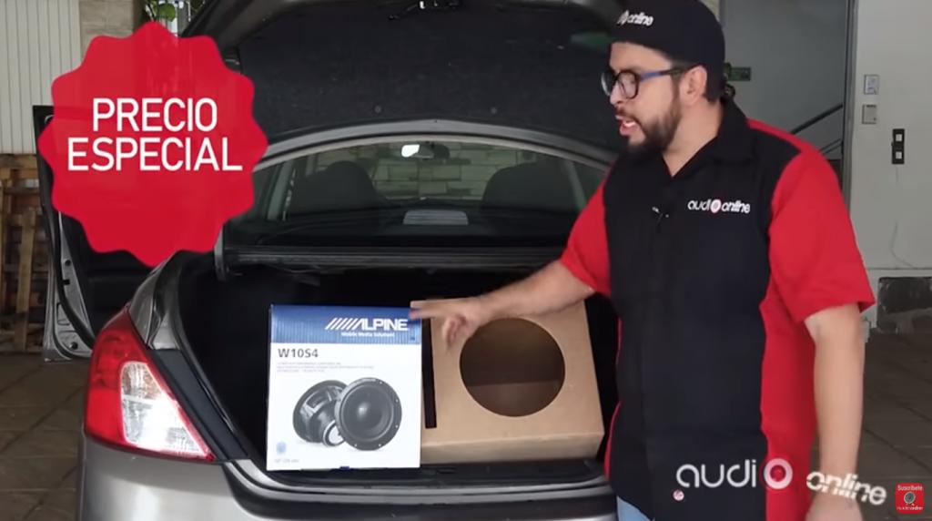 subwoofer y cajón para tutorial car audio sobre cómo agregar un woofer a tu sound car