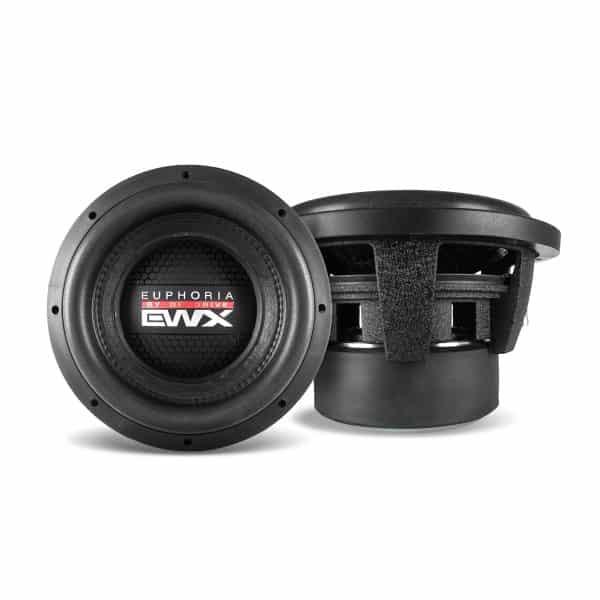 "EWX10D4, potencia máxima de 2.500 watts, impedancia de 4 ohms, tamaño 10"""