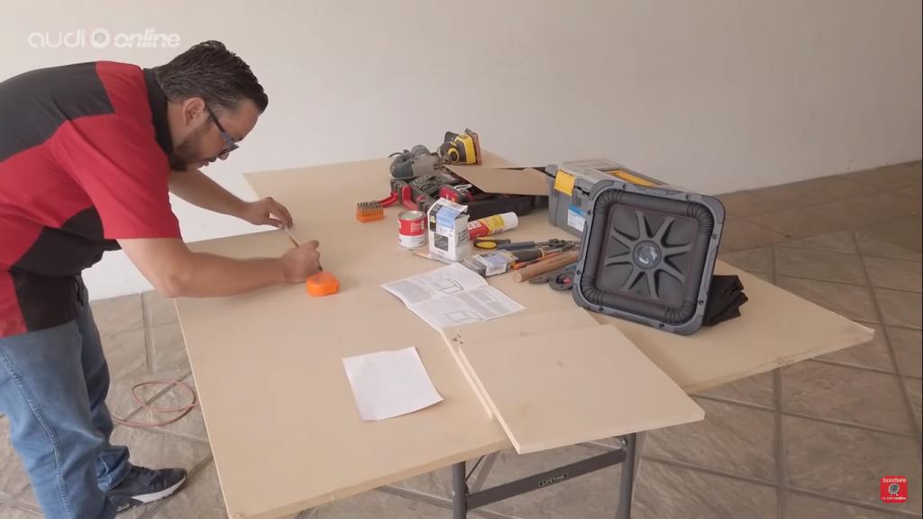 cortar las paredes del cajón
