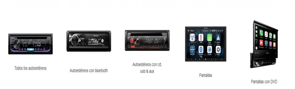 pantalla para coche en AudioOnline