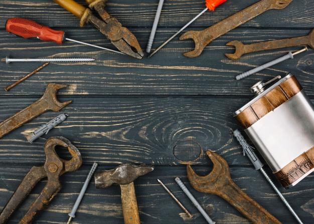 limpiar herramientas oxidadas