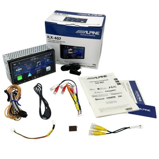 interir de la caja de la nueva pantalla Alpine ILX-407